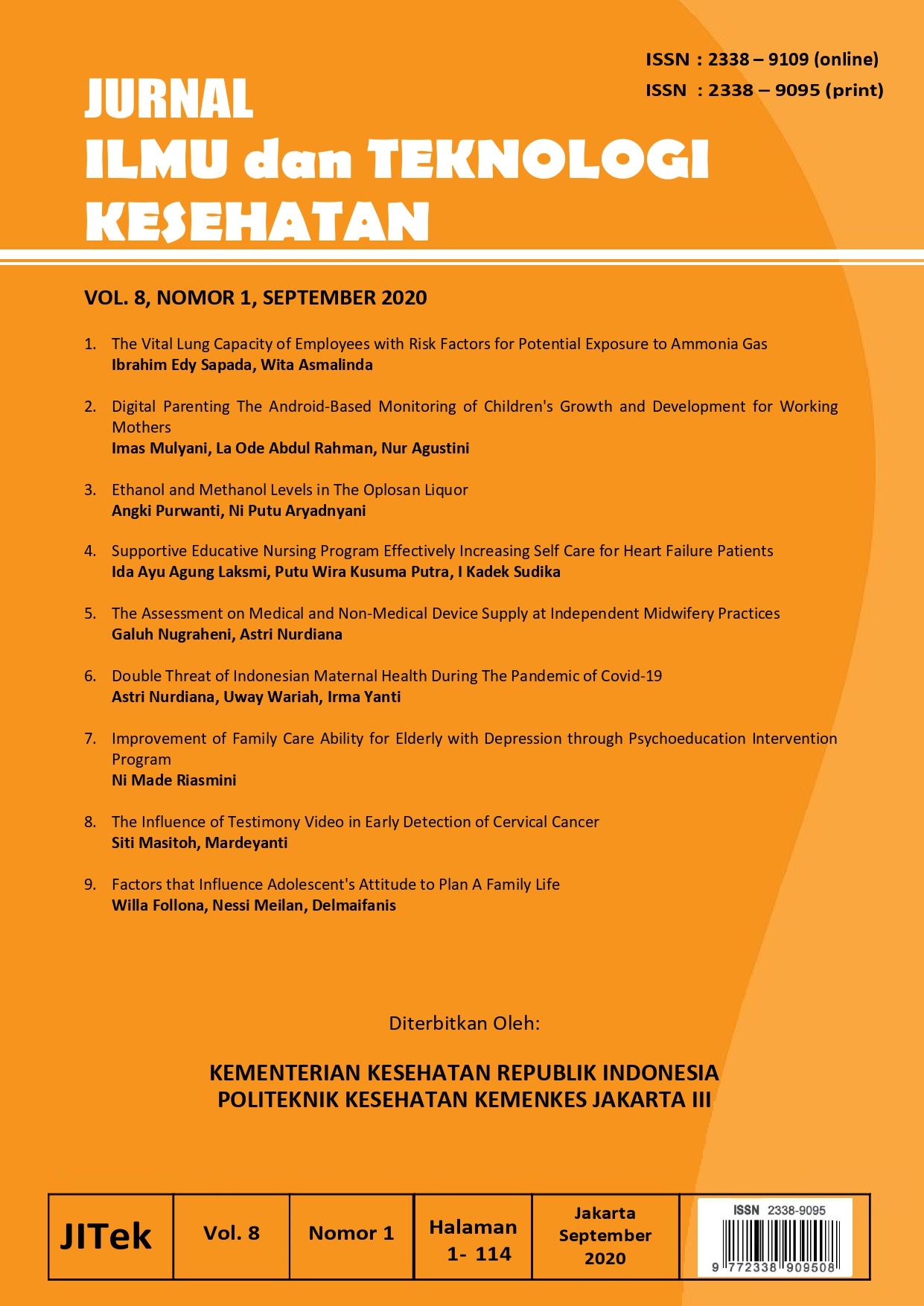 Jurnal Ilmu Dan Teknologi Kesehatan Poltekkes Kemenkes Jakarta Iii